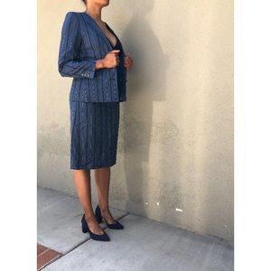 Vintage Saks Fifth Ave Power Suit: Jacket + Skirt